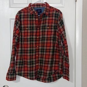 American Eagle Classic Fit Plaid Button Down